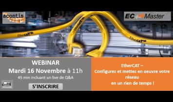 Webinar EtherCAT –  Configurez et mettez en oeuvre votre réseau  en un rien de temps! - Novembre 2021 - ISIT