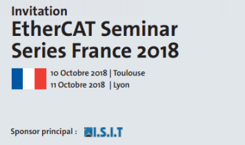 EtherCAT Seminar Series FRANCE - October 2018