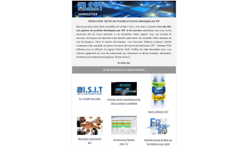 NewsLetter  ISIT - Octobre 2018