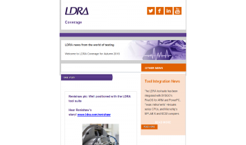 LDRA Coverage Autumn 2018