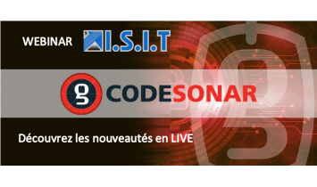Webinars ISIT - News CodeSonar - Novembre 2020