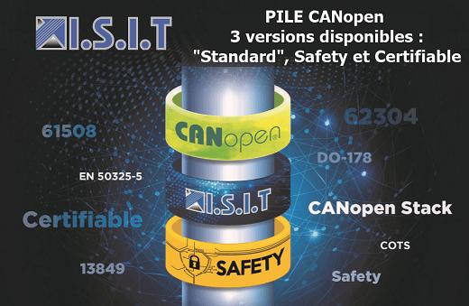 3 versions de la pile CANopen ISIT